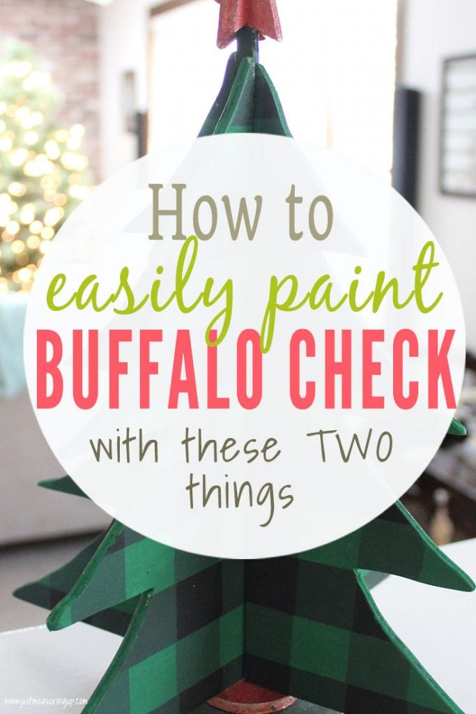 Green buffalo check DIY Christmas Craft tree