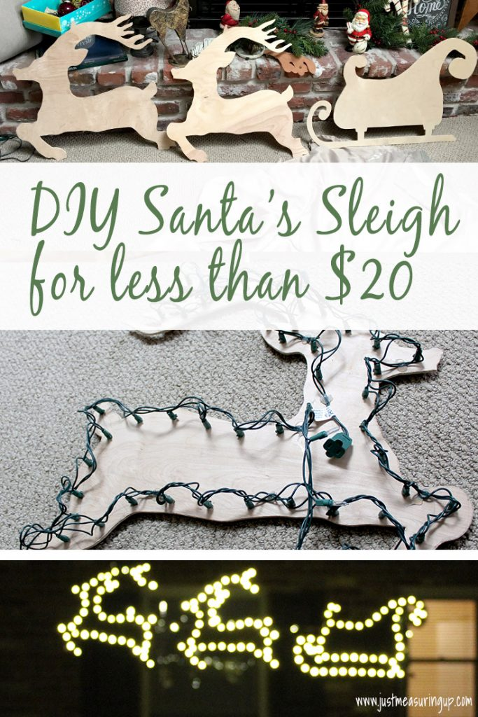 Santa Sleigh and Reindeer Outdoor Yard Decoration DIY