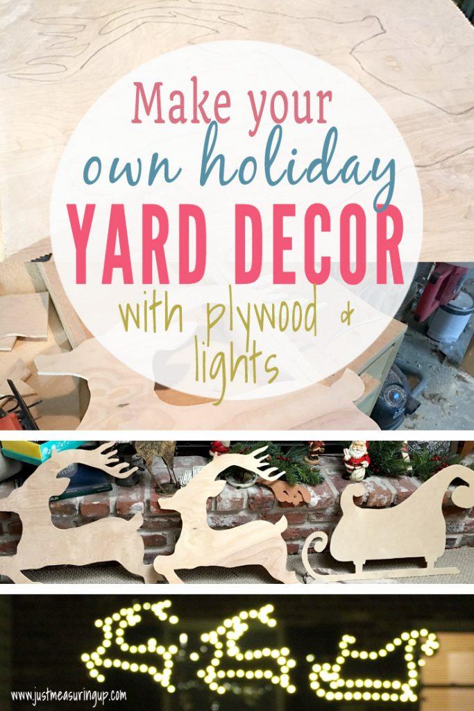 Holiday Yard Decor Santa's Sleigh and Reindeer