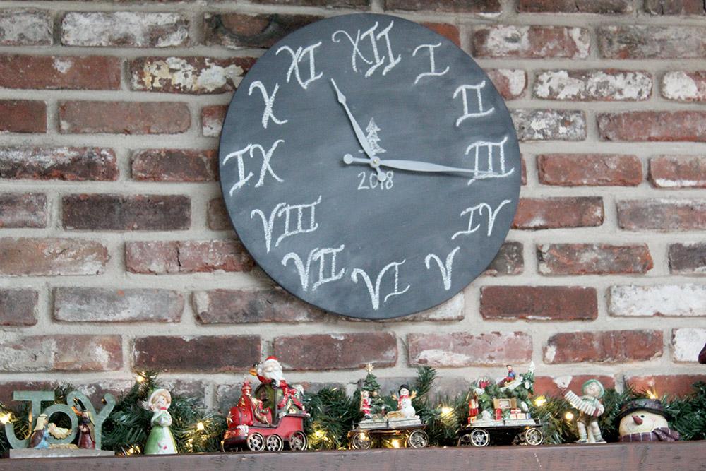 DIY chalkboard wall clock