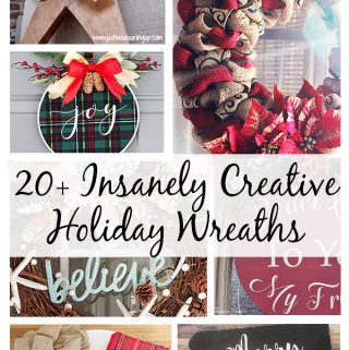 20+ Insanely Creative DIY Christmas Wreaths