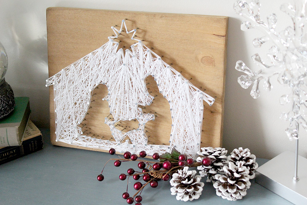 Diy String Art Nativity Scene Easy Holiday Diy For Anyone