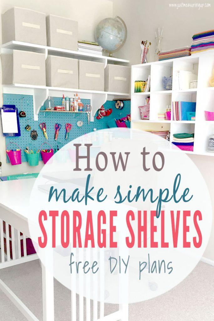 How To Build Easy Diy Wall Shelves Simple Diy Tutorial