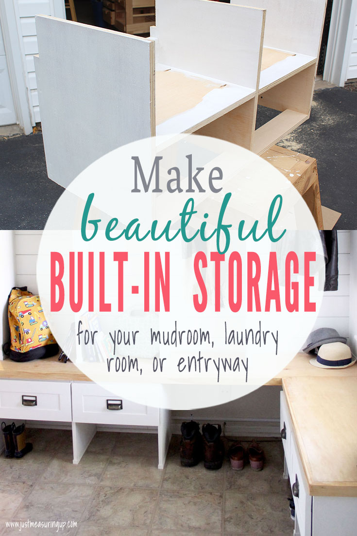 how to build an entryway bench with drawers and cubby shelves
