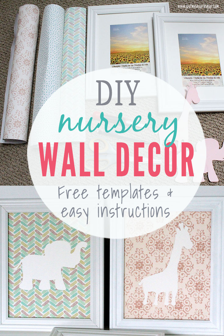 how to make wall art for the nursery with a few craft items