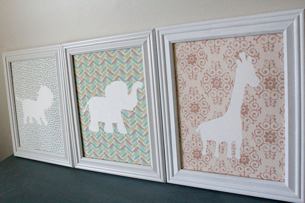 Cheap nursery decorating ideas - DIY baby animal wall art