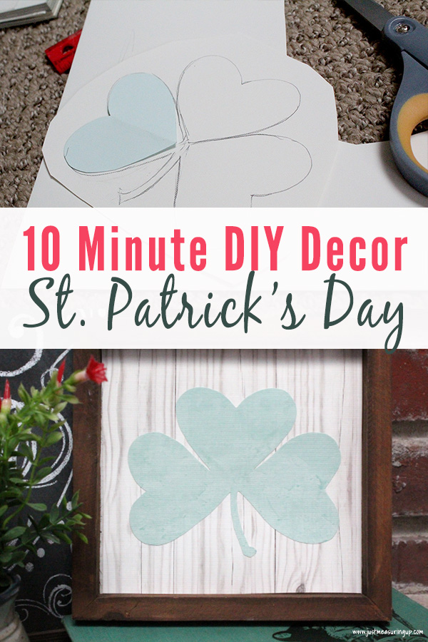 DIY shamrock decor