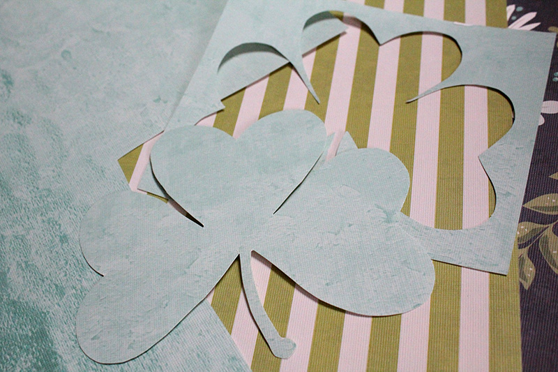 Making a shamrock craft for DIY St. Patrick's Day decor