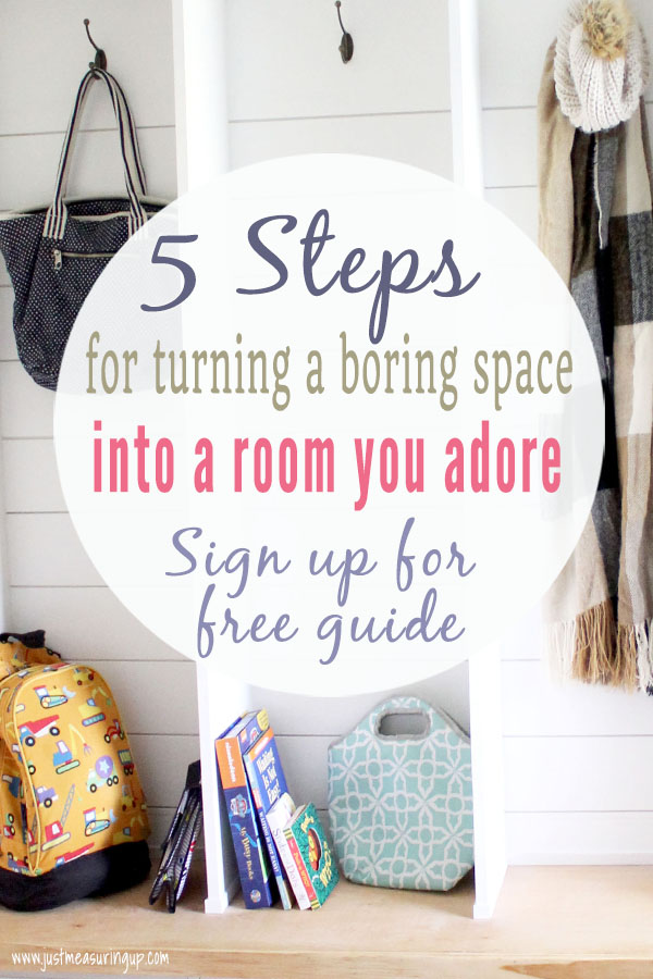 Frustrated with a room in your home? Tired of a boring or dysfunctional space in your home? With this free 5 Step Guide, you'll learn how to transform an area into a space you absolutely adore. Use the skills you have and these steps to do a complete DIY room makeover.