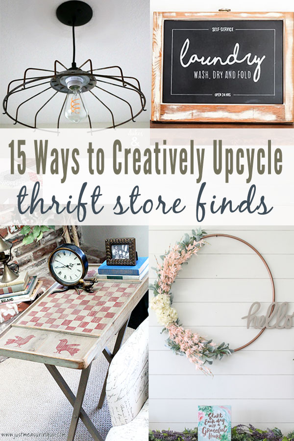 Thrift Store Makeovers 15 Easy Upcycled Thrift Store Finds
