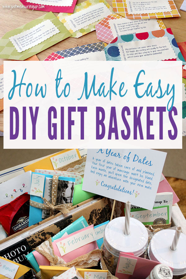 Creative ways to make a DIY gift basket for cheap - tags and gift fillers