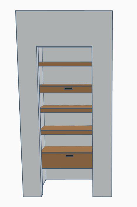 pantry closet shelving system design