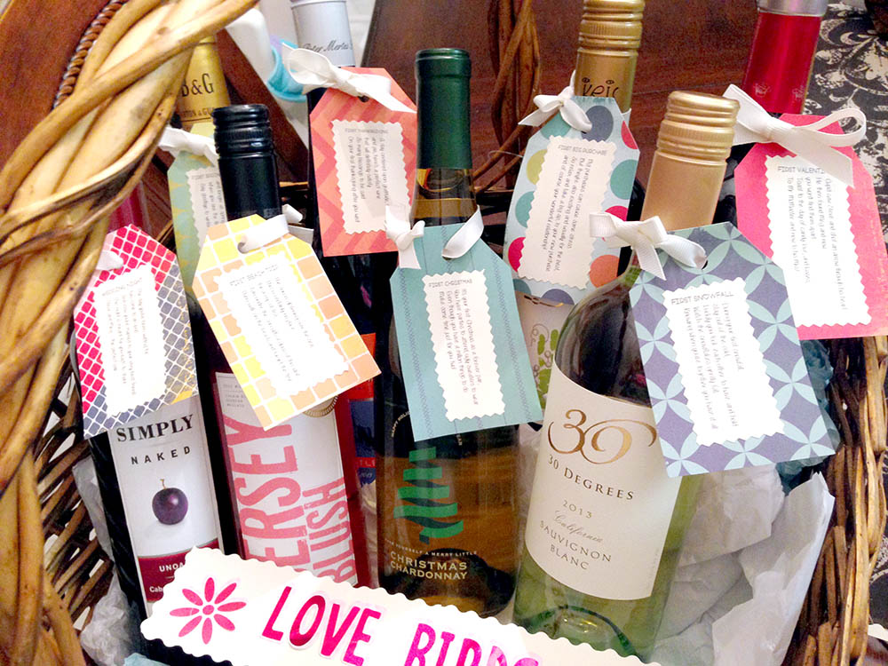 DIY First Year Milestones Wedding Wine Basket Gift