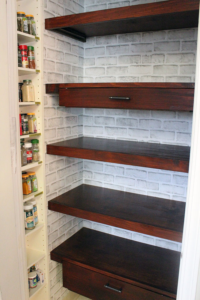 Pantry Shelves With Pull Out Drawers