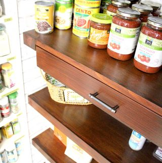 How to Make Built-In Pantry Shelves with Drawers
